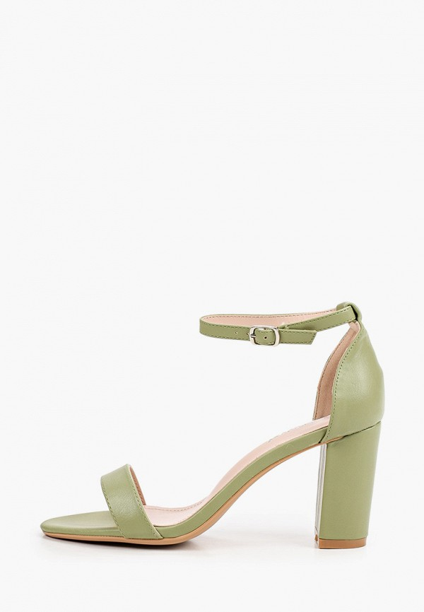 женские босоножки ideal shoes, зеленые