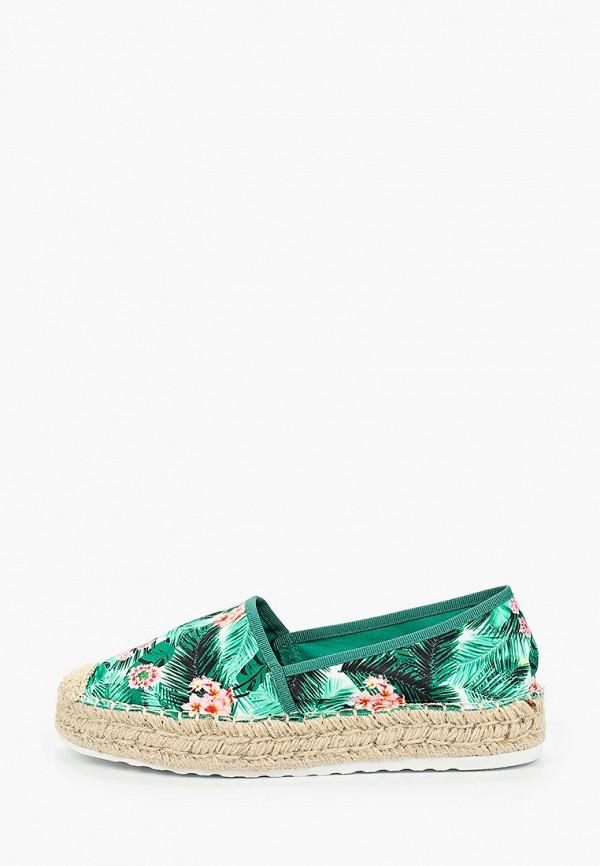 женские эспадрильи ideal shoes, зеленые