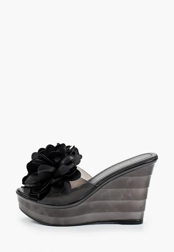 женское сабо ideal shoes, черное