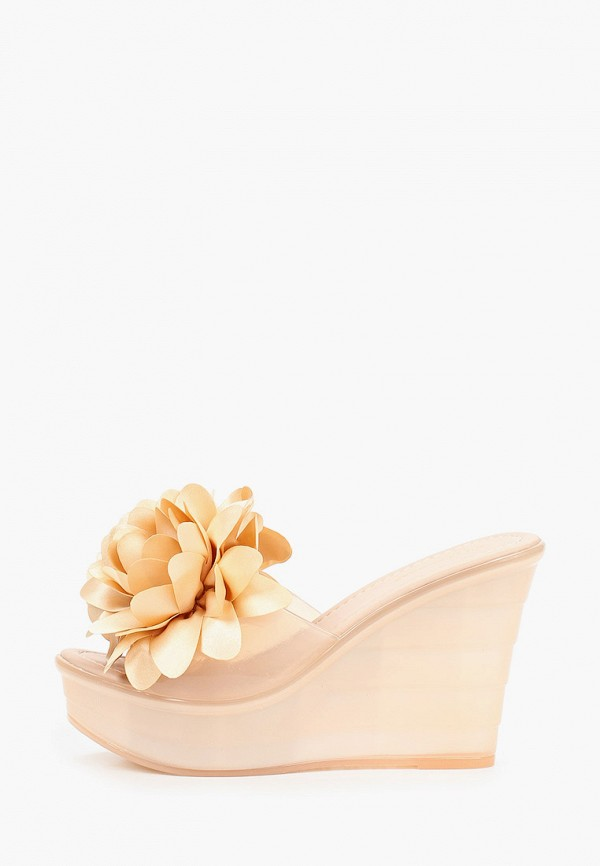 женское сабо ideal shoes, розовое
