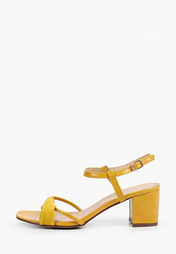 женские босоножки ideal shoes, желтые