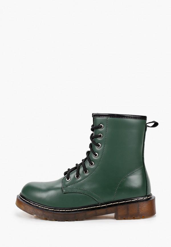 женские ботинки ideal shoes, зеленые