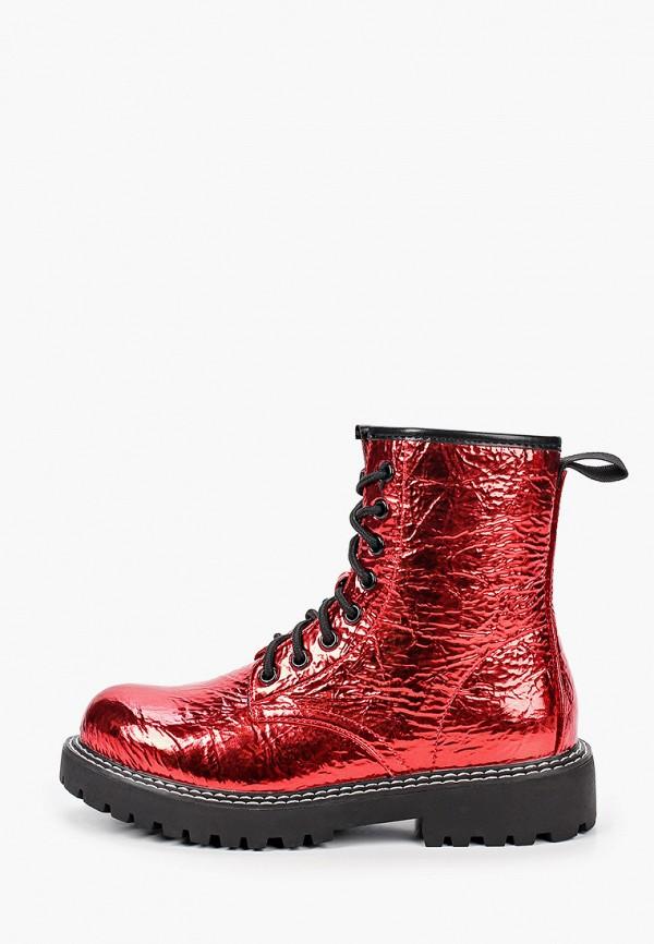 женские ботинки ideal shoes, красные