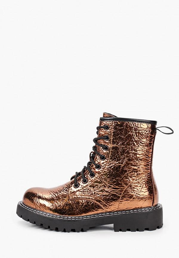 женские ботинки ideal shoes, золотые