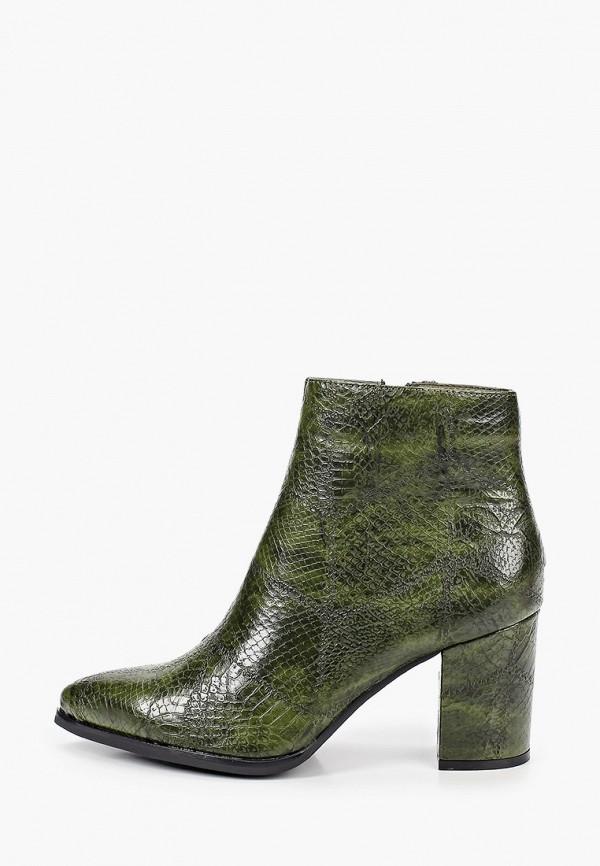 женские ботильоны ideal shoes, зеленые