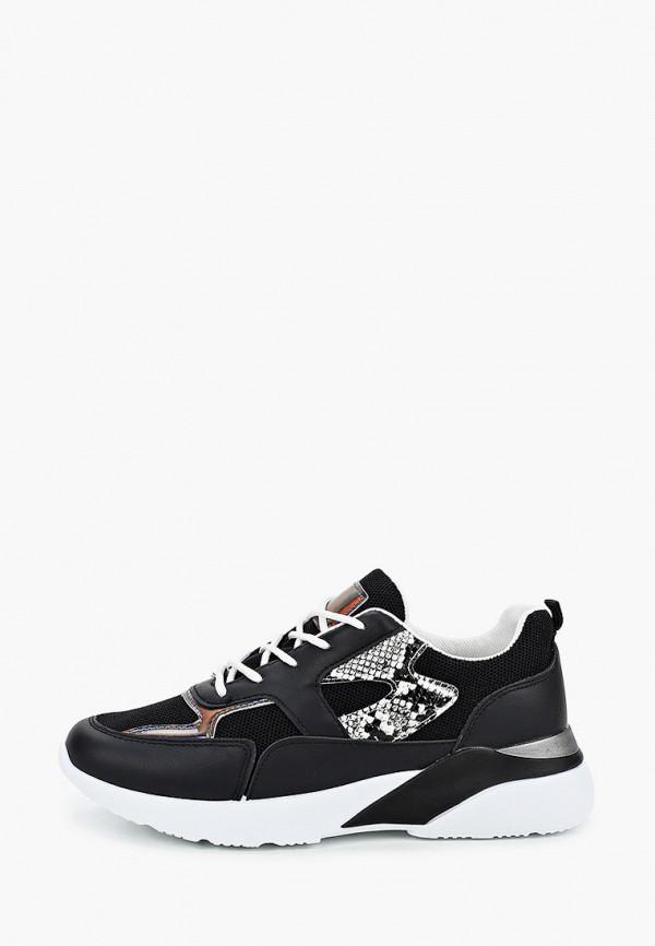 женские кроссовки ideal shoes, черные