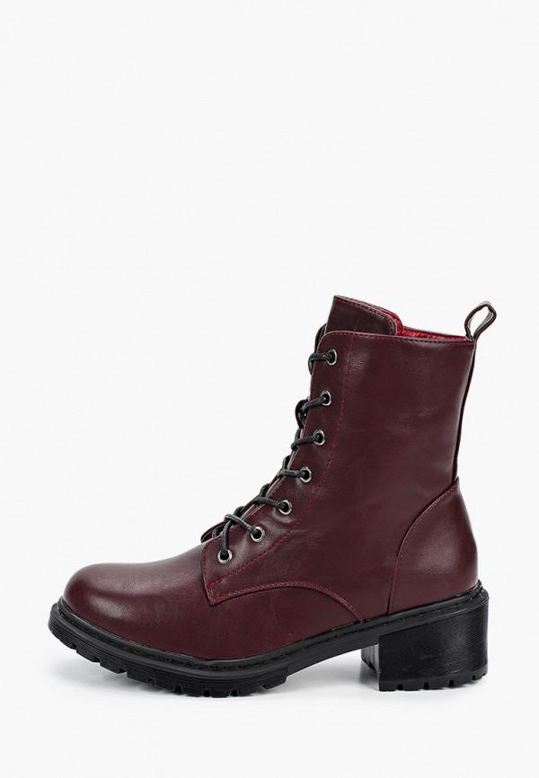 женские ботинки ideal shoes, бордовые