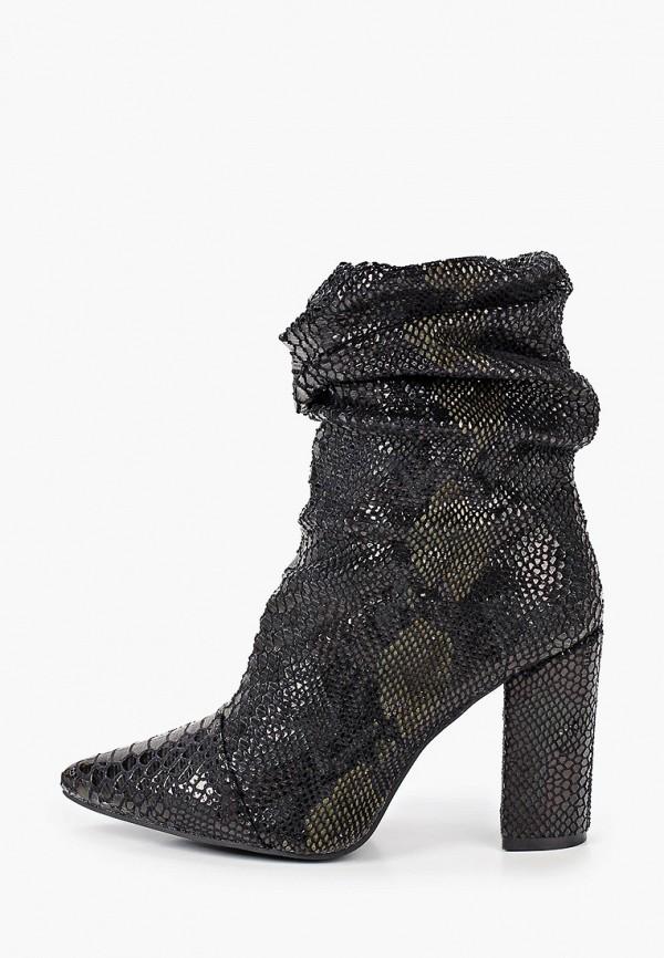 женские полусапожки ideal shoes, черные