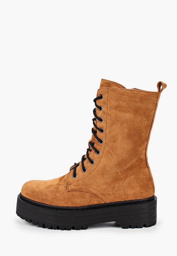 женские полусапожки ideal shoes, коричневые