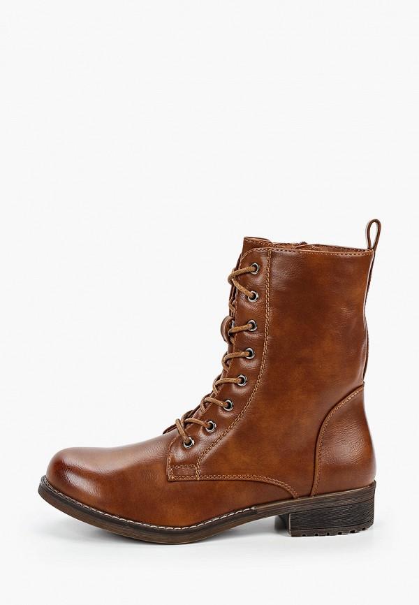 женские ботинки ideal shoes, коричневые