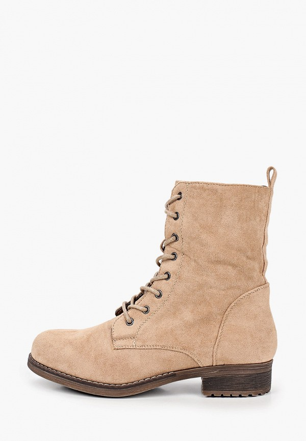 женские ботинки ideal shoes, бежевые