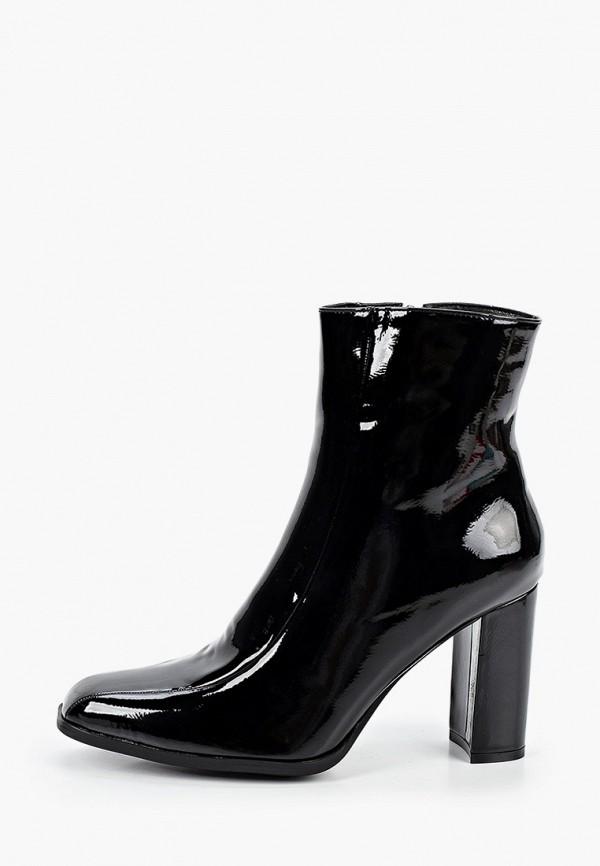 женские ботильоны ideal shoes, черные