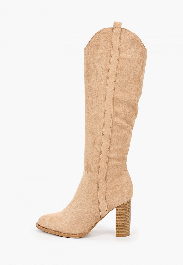 женские сапоги ideal shoes, бежевые