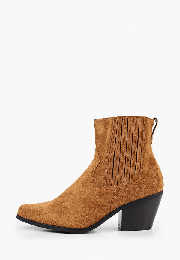 женские ботильоны ideal shoes, коричневые