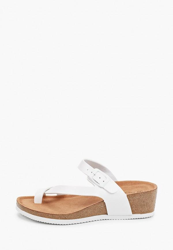 женское сабо ideal shoes, белое