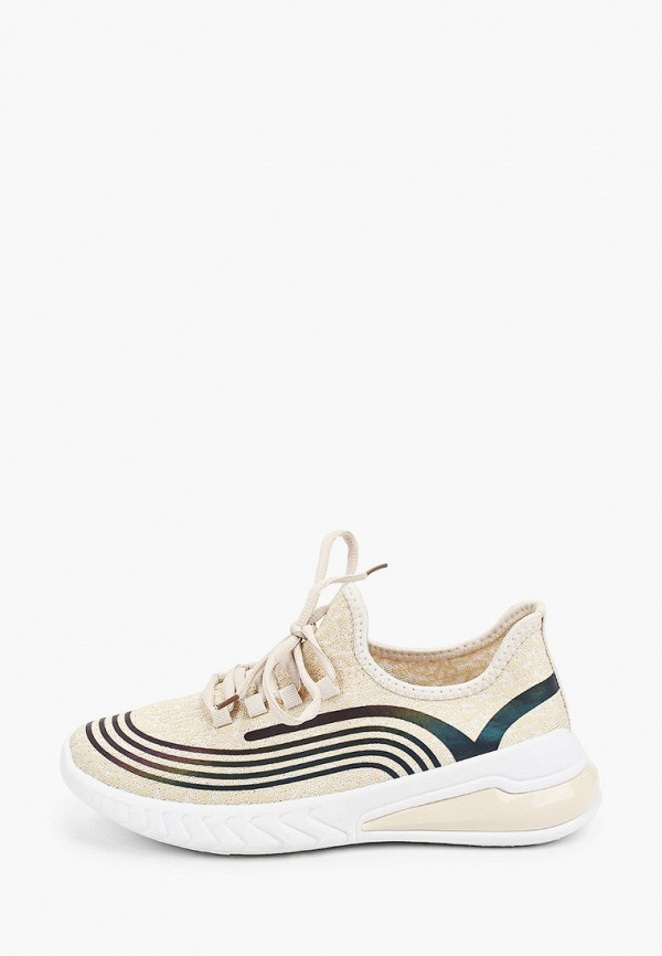 женские кроссовки ideal shoes, бежевые