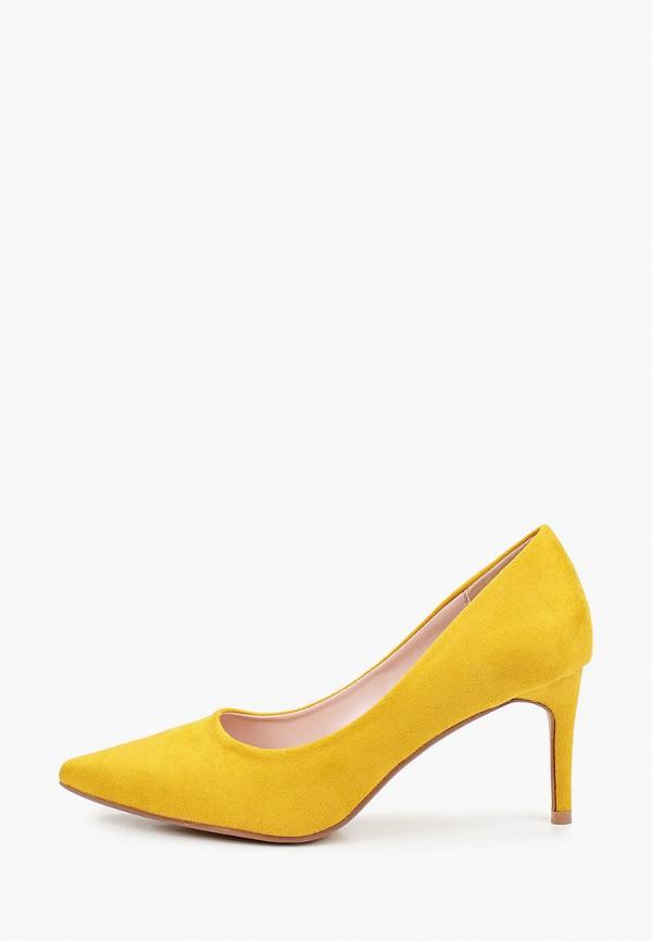 женские туфли-лодочки ideal shoes, желтые