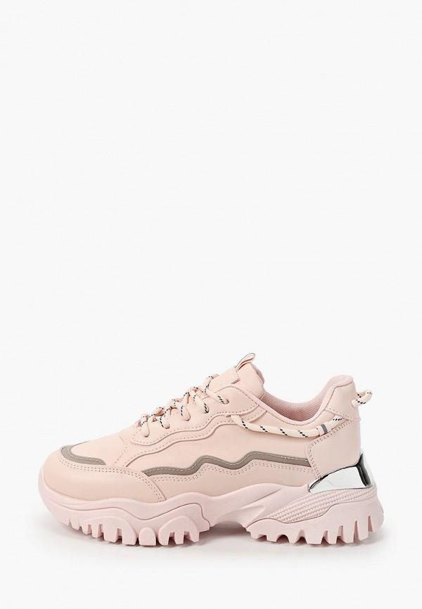 женские кроссовки ideal shoes, розовые