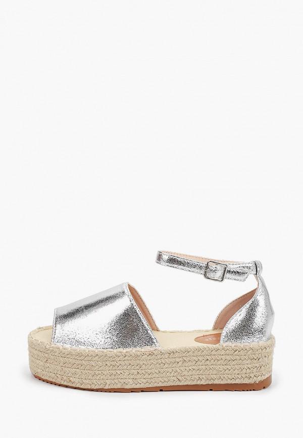 женские эспадрильи ideal shoes, серебряные