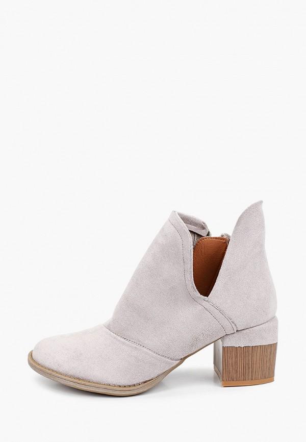 женские высокие ботильоны ideal shoes, серые