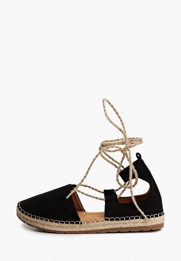 женские эспадрильи ideal shoes, черные