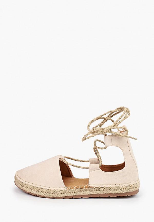 женские эспадрильи ideal shoes, бежевые