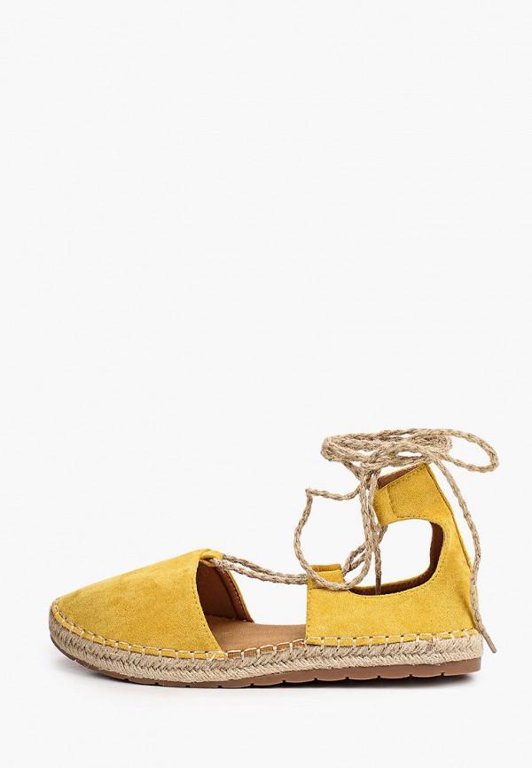 женские эспадрильи ideal shoes, желтые