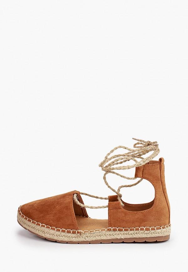 женские эспадрильи ideal shoes, коричневые
