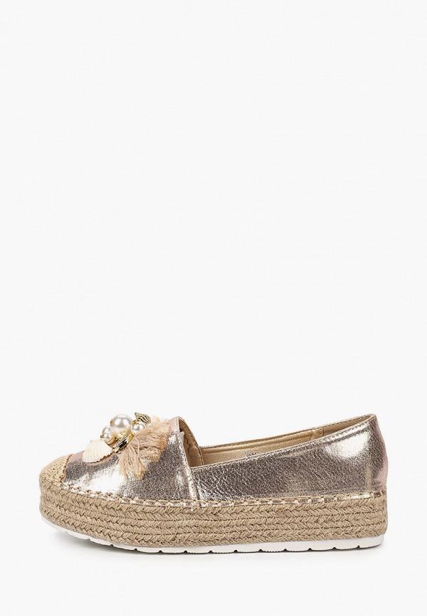 женские эспадрильи ideal shoes, золотые