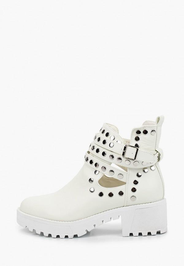 женские ботильоны ideal shoes, белые