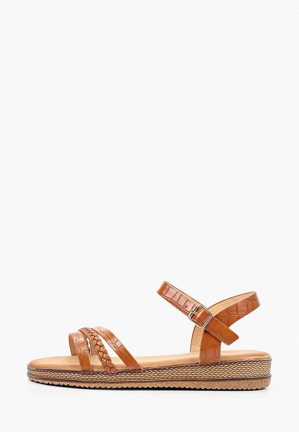 женские сандалии ideal shoes, коричневые