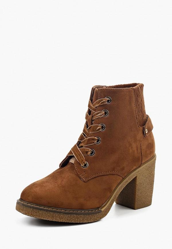 Фото - женские ботильоны Ideal Shoes коричневого цвета