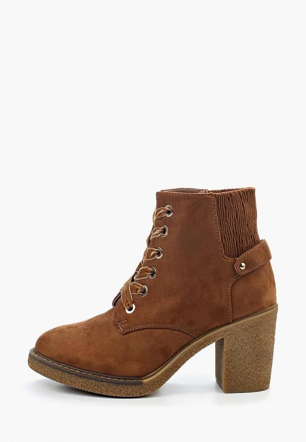 Фото 2 - женские ботильоны Ideal Shoes коричневого цвета