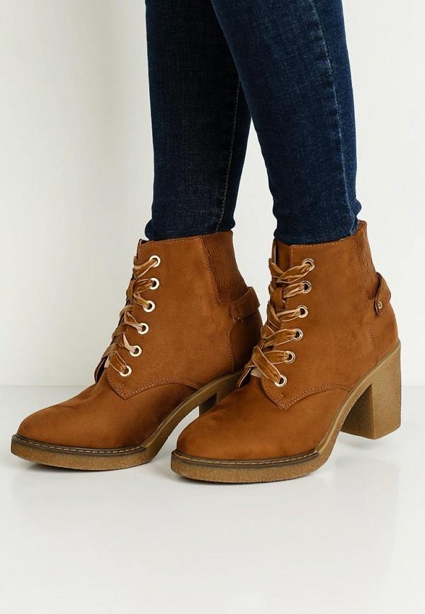 Фото 5 - женские ботильоны Ideal Shoes коричневого цвета