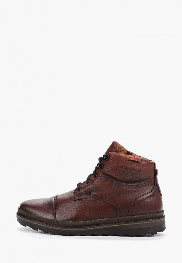 мужские ботинки id! collection, коричневые
