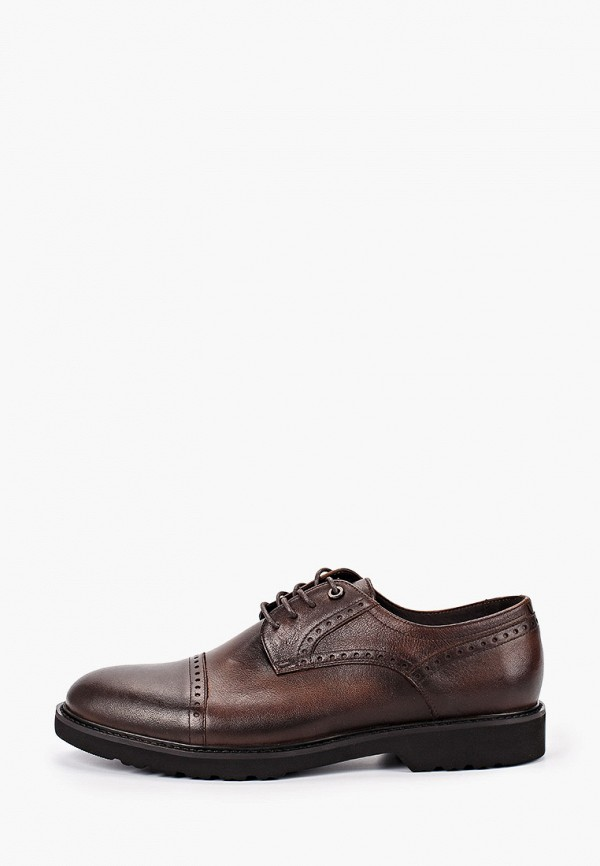 мужские туфли id! collection, коричневые