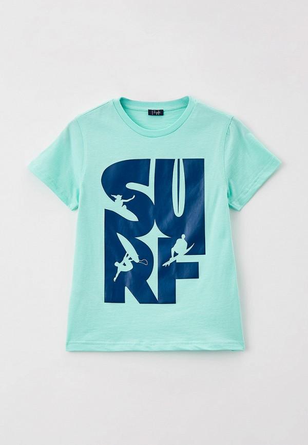 футболка с коротким рукавом il gufo для мальчика, бирюзовая