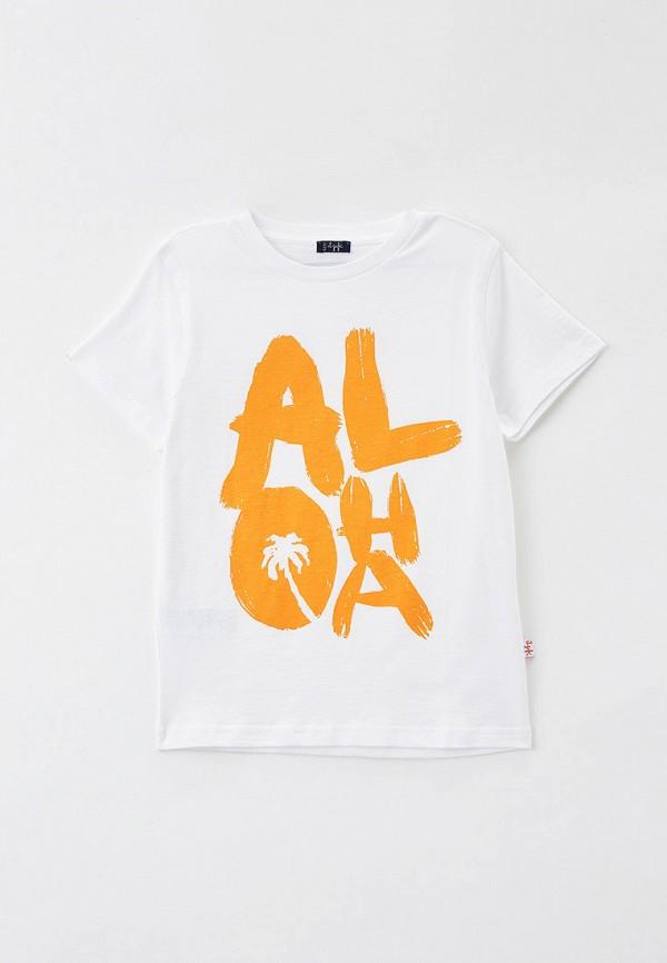 футболка с коротким рукавом il gufo для мальчика, белая