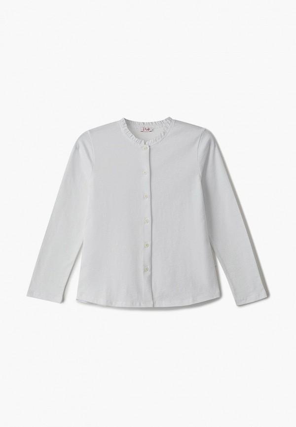 блузка il gufo для девочки, белая