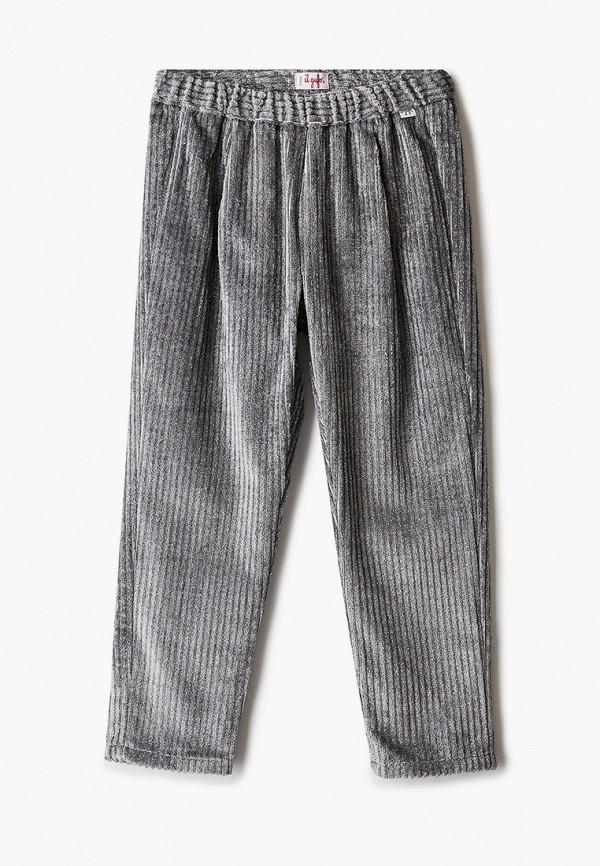 брюки il gufo для девочки, серебряные