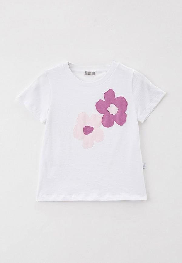 футболка с коротким рукавом il gufo для девочки, белая