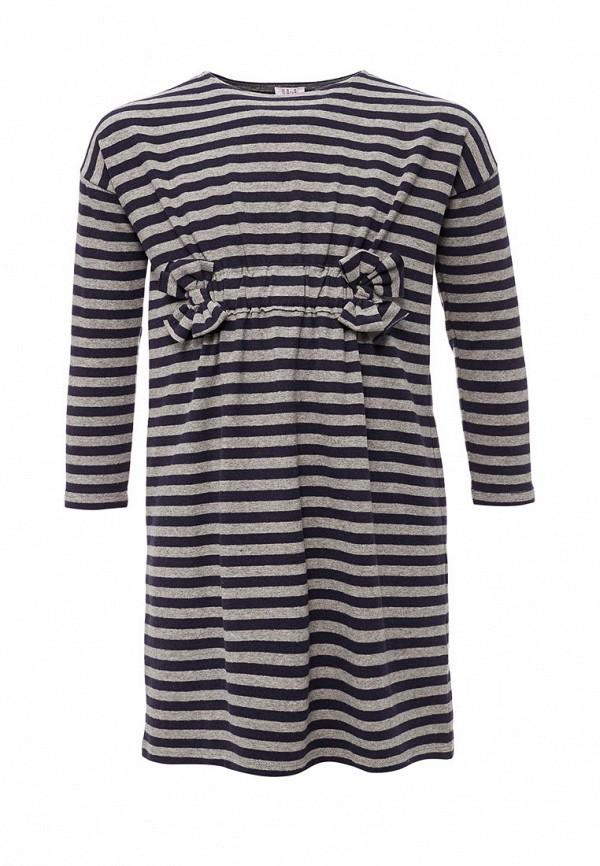 повседневные платье il gufo для девочки, синее