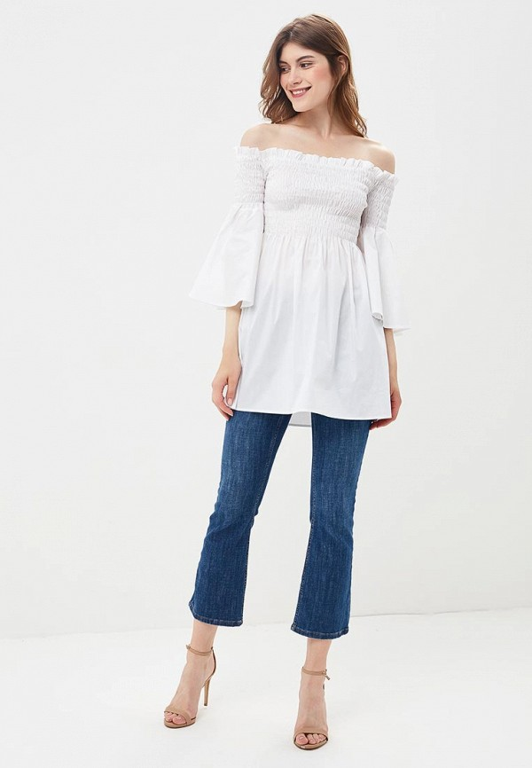 Фото 2 - женскую блузку Imperial белого цвета