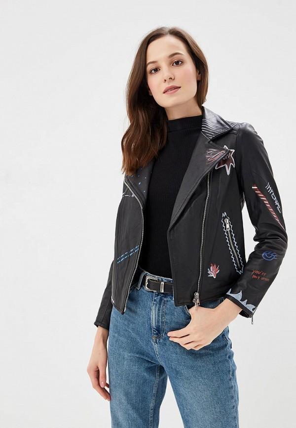Купить Куртка кожаная Imperial, IM004EWCIQV7, черный, Осень-зима 2018/2019