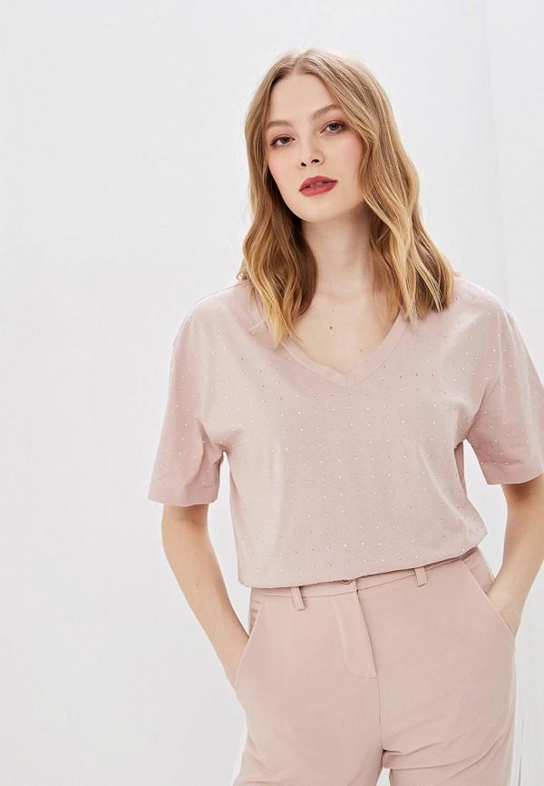 женская футболка imperial, розовая
