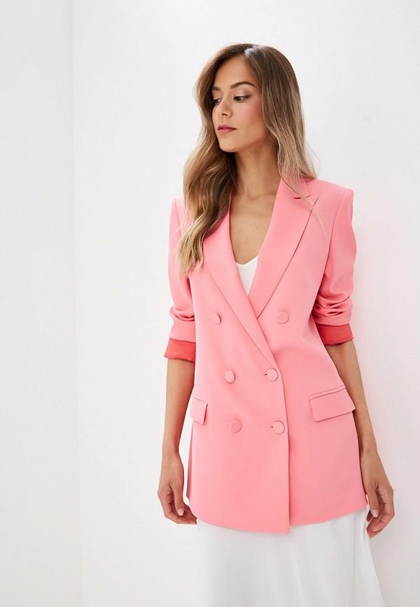женский пиджак imperial, розовый