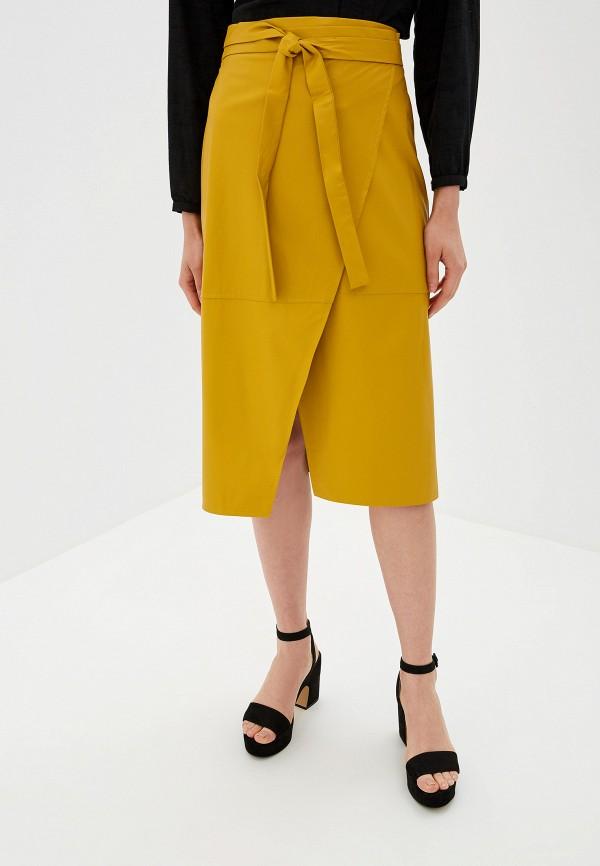 женская юбка imperial, желтая