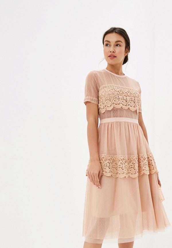 женское платье imperial, бежевое