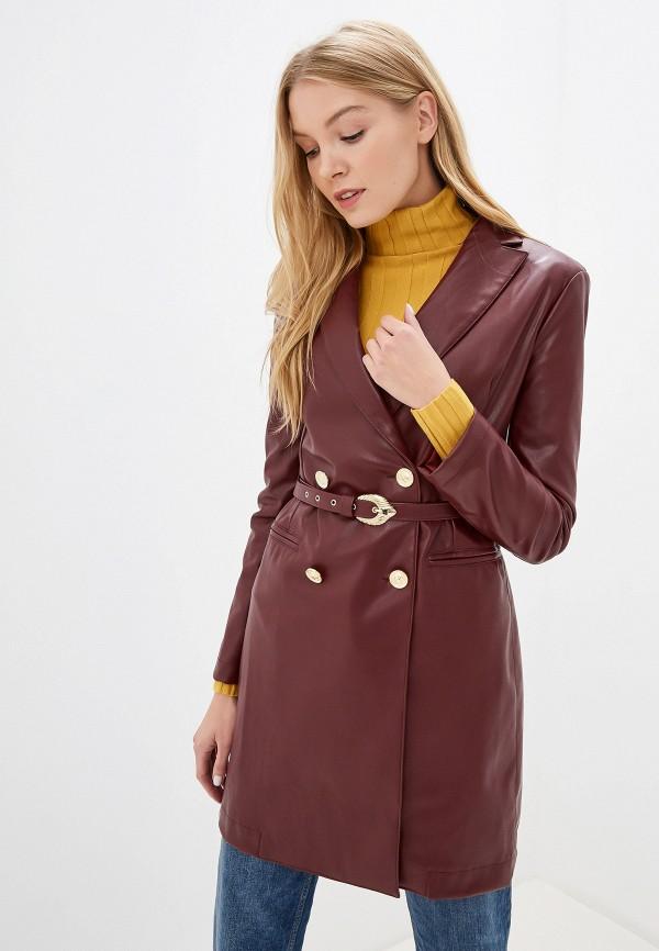 женский пиджак imperial, бордовый