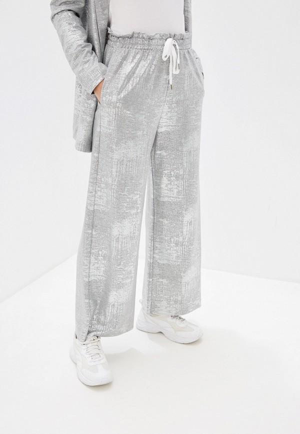 женские повседневные брюки imperial, серебряные